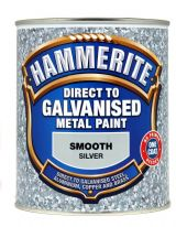 Hammerite Direct To Galvanised Metal Paint 750ml - Silver
